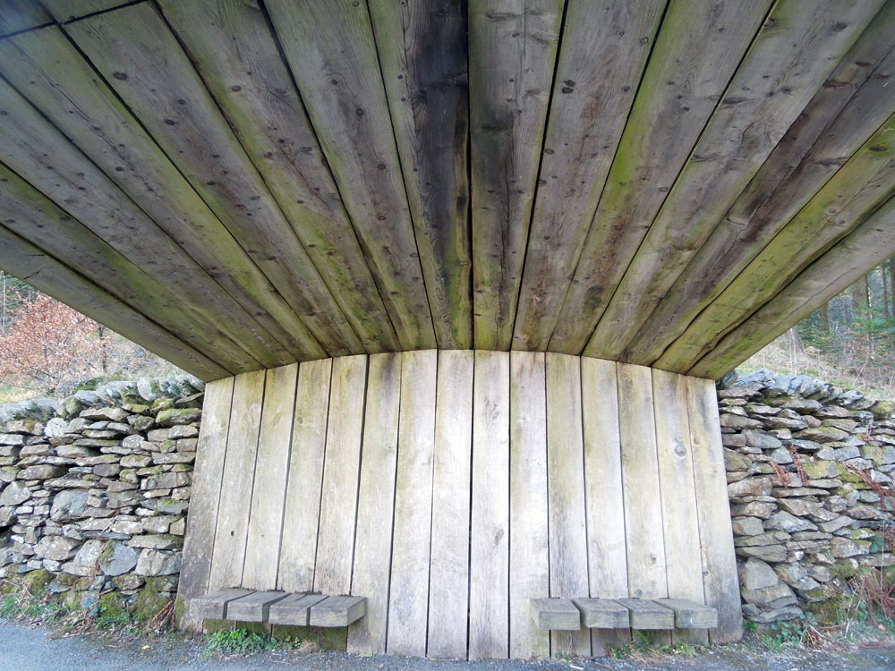 Sheltered seat. Photo Apr 2016
